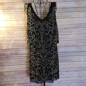Xscape Dresses - Xscape black beaded 12 sleeveless cocktail dress